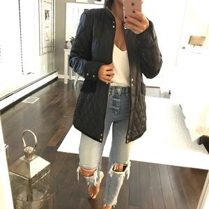 Vince Camuto Navy Blue quilted panel jacket XS